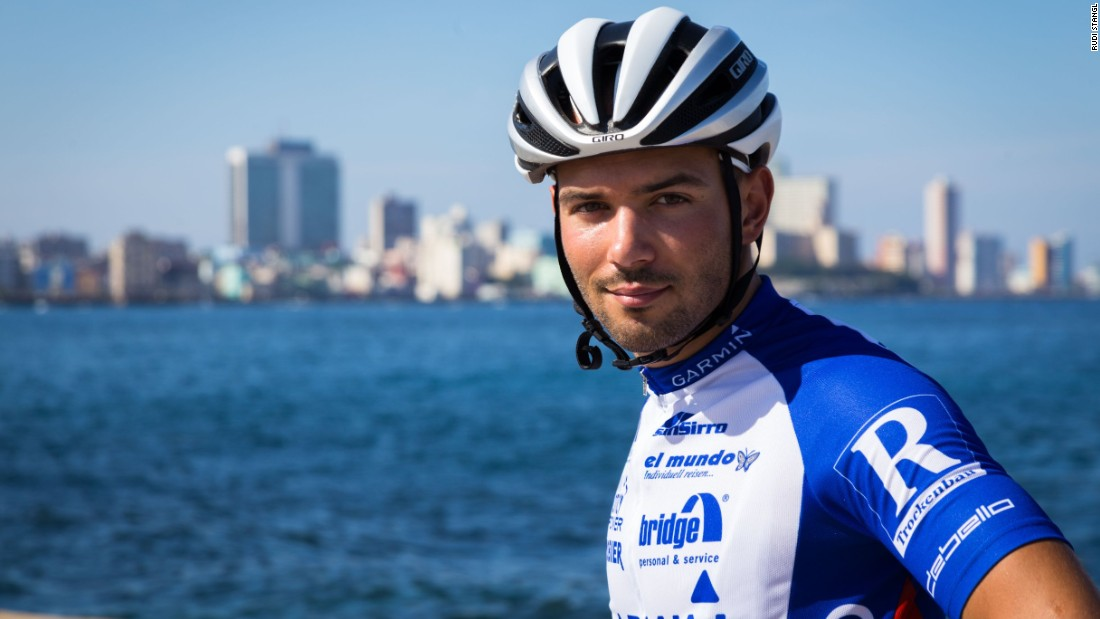 The 28-year-old Austrian, who is pictured on the waterfront of Havana, will attempt to be the first cyclist to ride across Cuba -- a distance of 1,450 kilometers -- non-stop.
