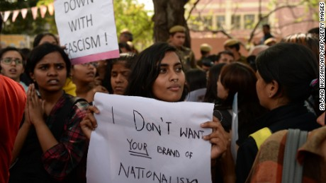 Students in India say they are scared of speaking out.