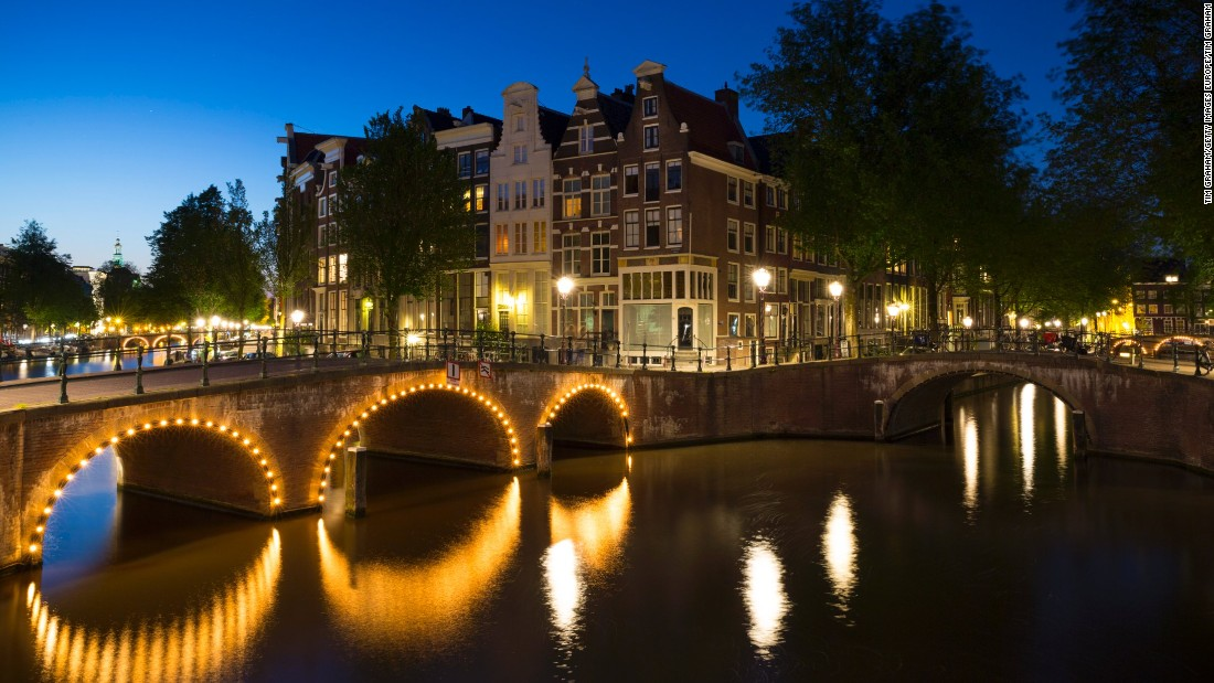 <strong>6. Netherlands -- </strong>The Dutch country famous for Van Gogh, tulips and canals -- marked by these illuminated bridges at Kaisersgracht and Leidsegracht in Amsterdam -- moved up one spot to sixth place.