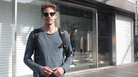Roelan Toussen, 26, voted for PM Mark Rutte's Freedom and Democracy Party.