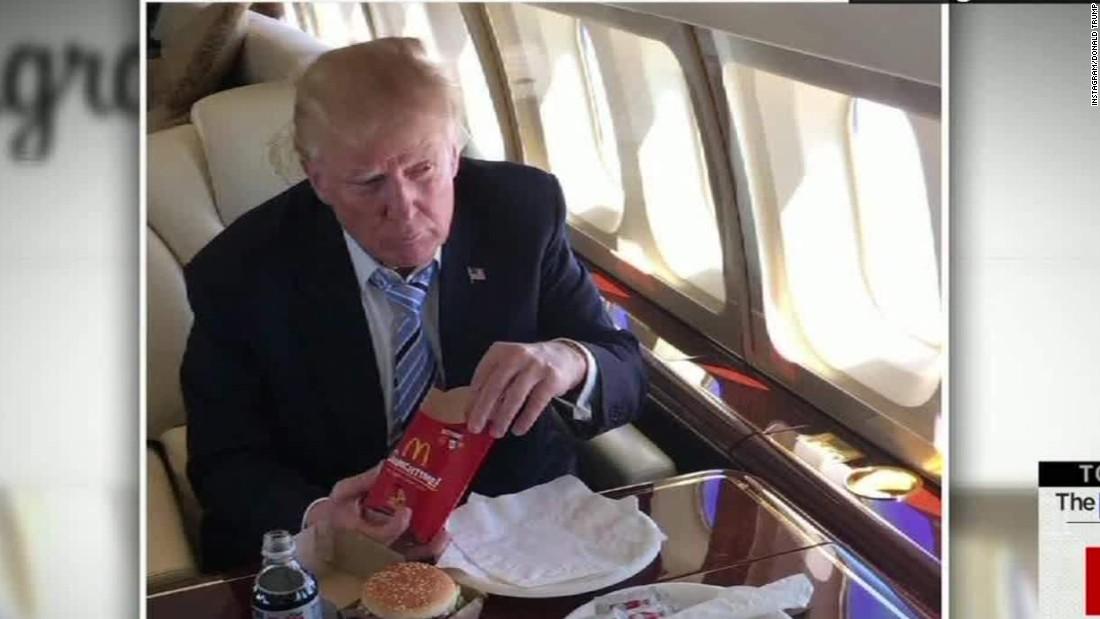 Trump's bun-free but unhealthy McDonald's fix