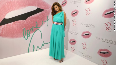 Eva Mendes appeared at the New York & Company store opening at Dadeland Mall in Miami on March 16, 2017 in Miami, Florida.