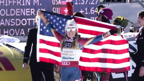 Shiffrin, 22, is the reigning Olympic slalom champion