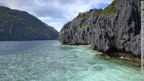 EL NIDO, PALAWAN, PHILIPPINES - 2008/12/19: The archipelago outside El Nido is composed of wild limestone cliffs, lagoons, hundreds of islands and a rich marine fauna.