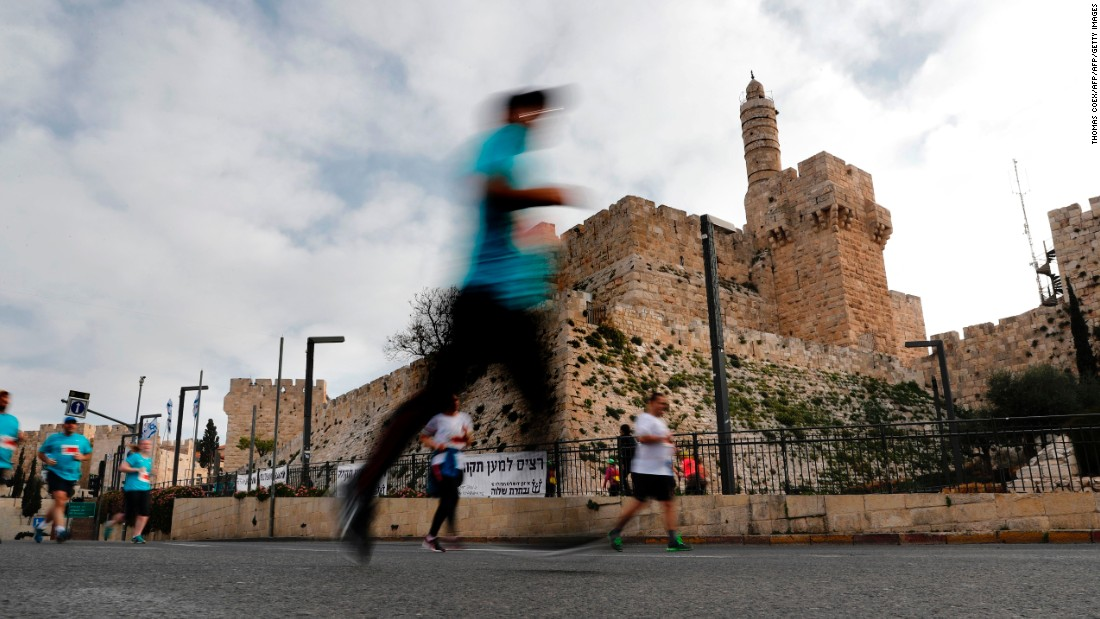 In the shadow of the city's most historic sites -- including the Old City (pictured), the Israeli Knesset, and the Machane Yehuda Marketplace -- people of different beliefs and cultures were brought together. An estimated 62 nationalities were represented. <br />