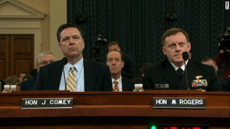 comey and rogers russia hearing