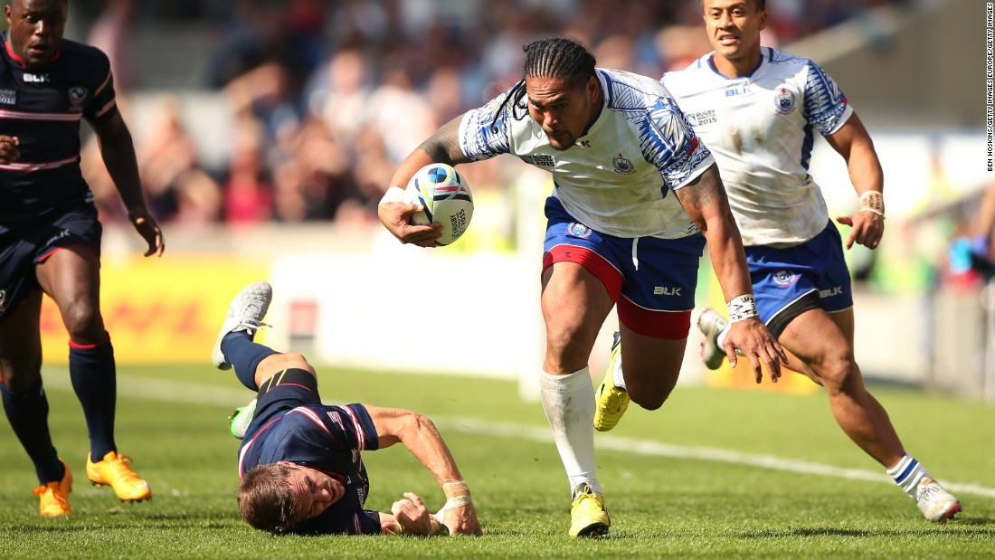 Samoan winger Alesana Tuilagi is also one of Wooching's rugby heroes.