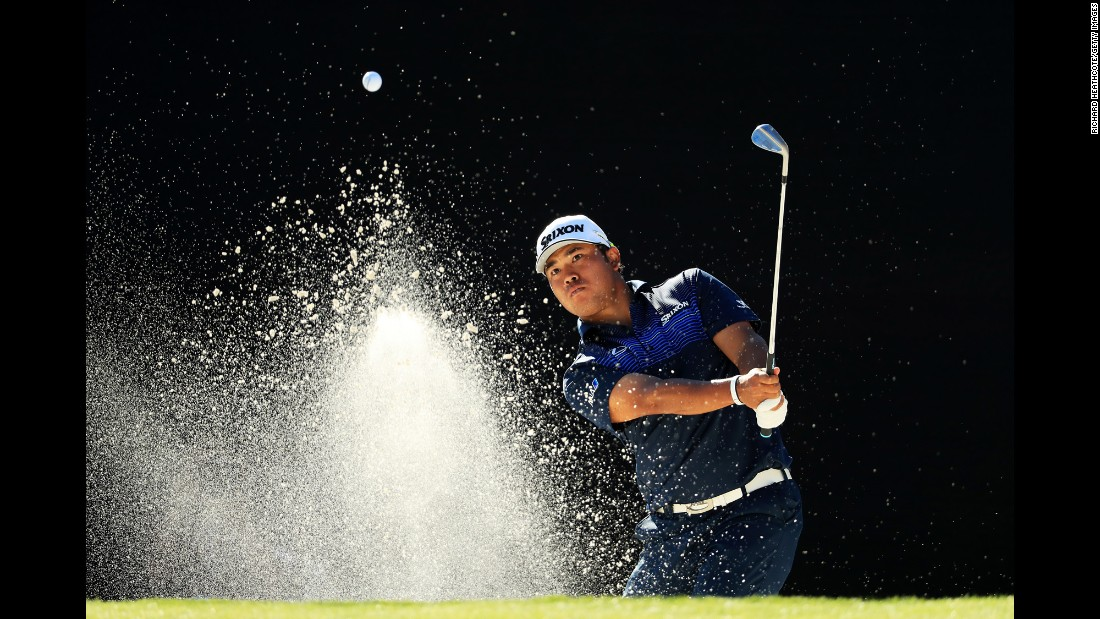 Hideki Matsuyama plays a shot from the sand Friday, March 17, during the Arnold Palmer Invitational in Orlando.