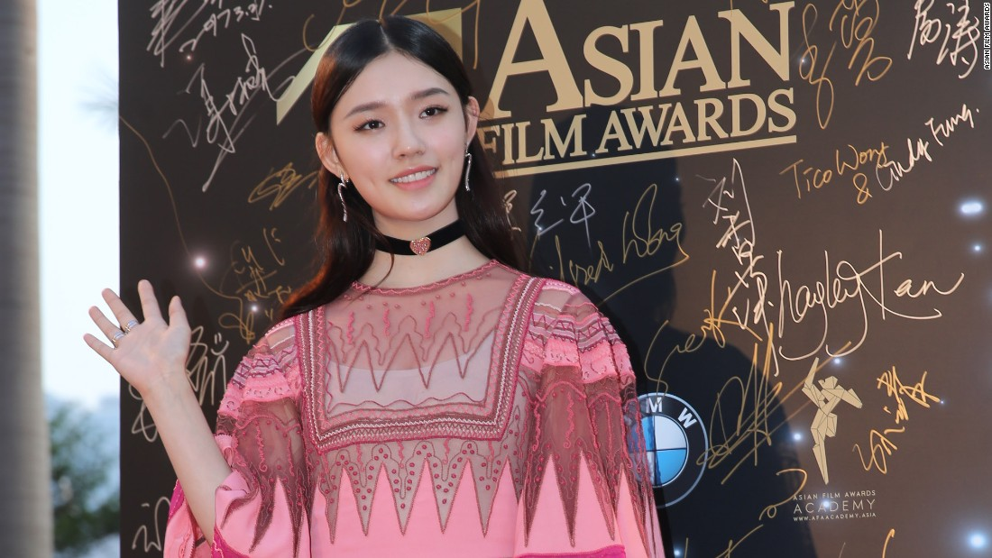 "Chinese actress Jelly Lin won the award for Rising Star of Asia for her role in the Chinese-Hong Kong sci-fi romance ""Mermaid."""