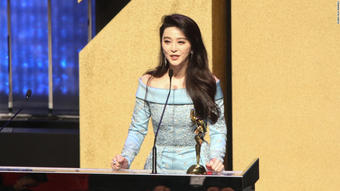 Chinese actress Fan Bingbing won the award for Best Actress.
