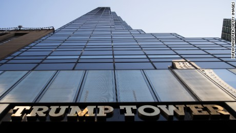 NEW YORK, NY - NOVEMBER 16: A view of Trump Tower on 5th Avenue, November 16, 2016 in New York City. Trump is in the process of choosing his presidential cabinet as he transitions from a candidate to the president-elect. (Photo by Drew Angerer/Getty Images)