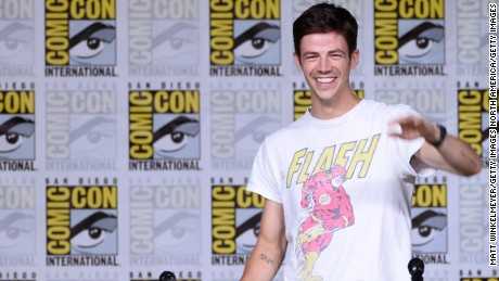 Actor Grant Gustin attends the