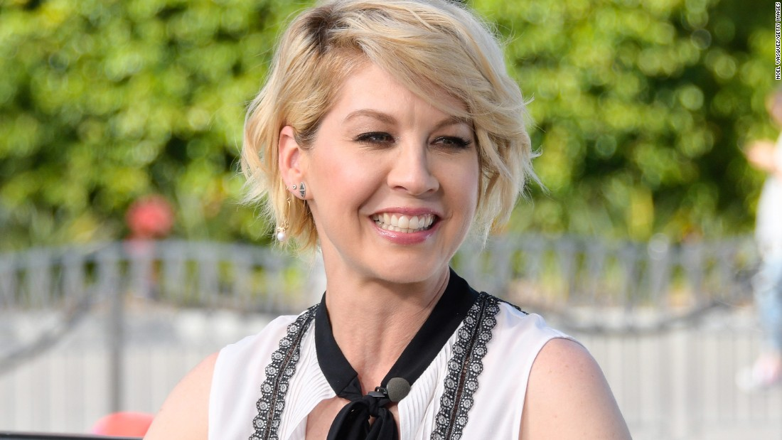 "Actress Jenna Elfman is best known for her starring role in the TV sitcom ""Dharma and Greg."""
