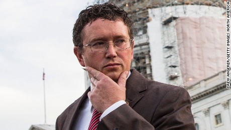 Rep. Thomas Massie (R-KY) in Washington in 2015. (Photo by Drew Angerer/Getty Images)