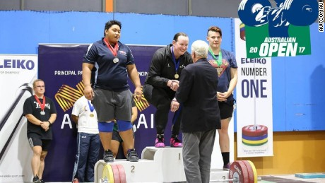 Hubbard became the first Kiwi transgender athlete to win a weightlifting title at the 2017 Australian Open.