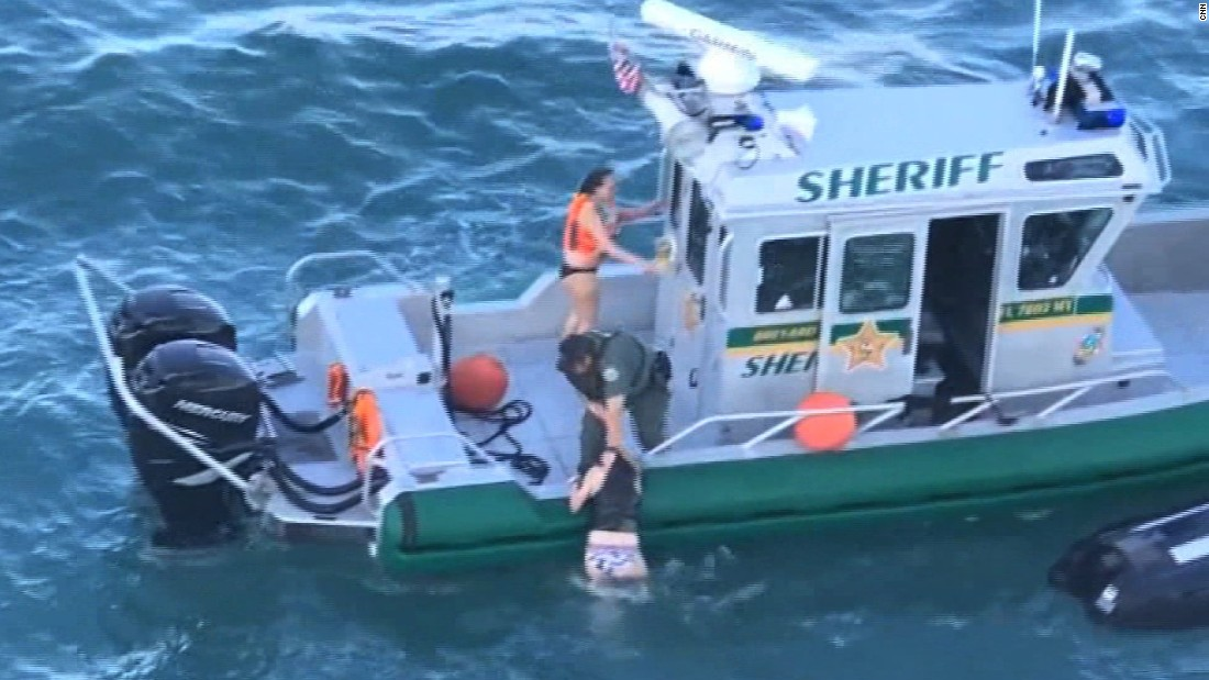 Deputy saves jet skiers in path of cruise ship