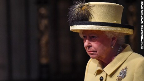"The Queen said she was ""deeply saddened."""