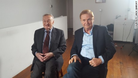 Oleg Kalugin, left, and Jack Barsky, who both worked for the KGB, share their views on the allegations of Russia trying to influence the US election.