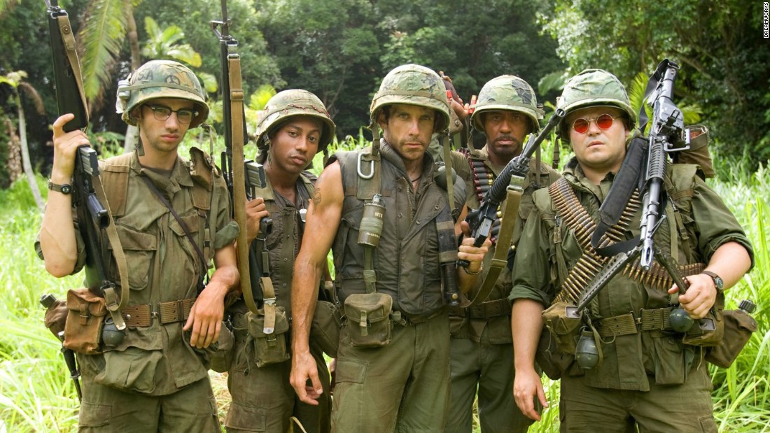 "<strong>""Tropic Thunder"": </strong>A group of actors filming a war movie end up having to become soldiers in this comedy. <strong>(Netflix) </strong>"