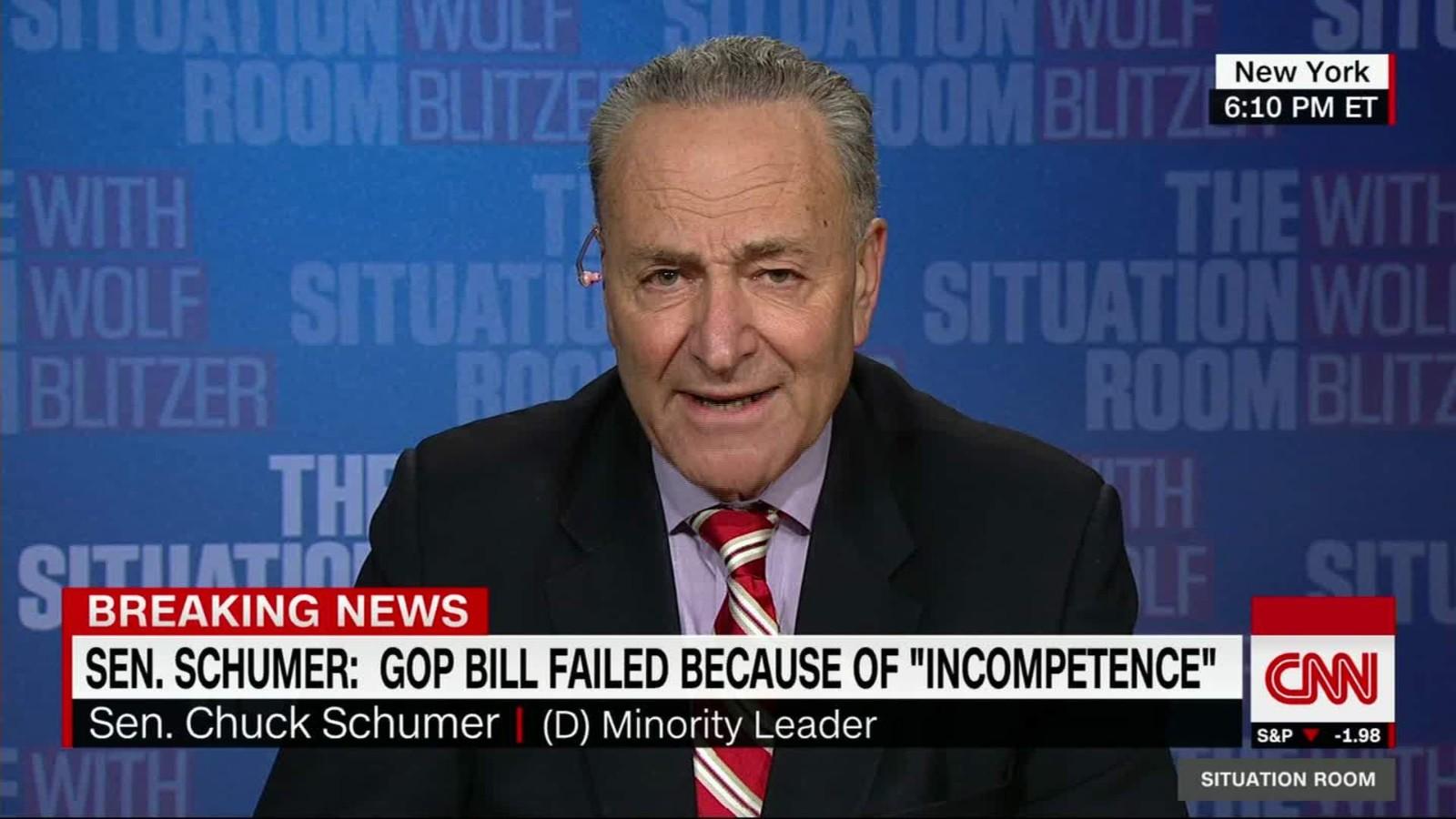 Schumer: Trump To Blame For Failed Bill   CNN Video