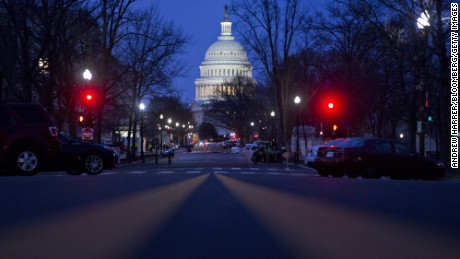 The U.S. Capitol building stands before sunrise in Washington, D.C., U.S., on Friday, March 24, 2017. House GOP leaders are hurtling toward a vote Friday on their embattled health-care bill without knowing for sure whether they have enough support to pass the measure, after yielding to Trump administration demands to act now. Photographer: Andrew Harrer/Bloomberg via Getty Images