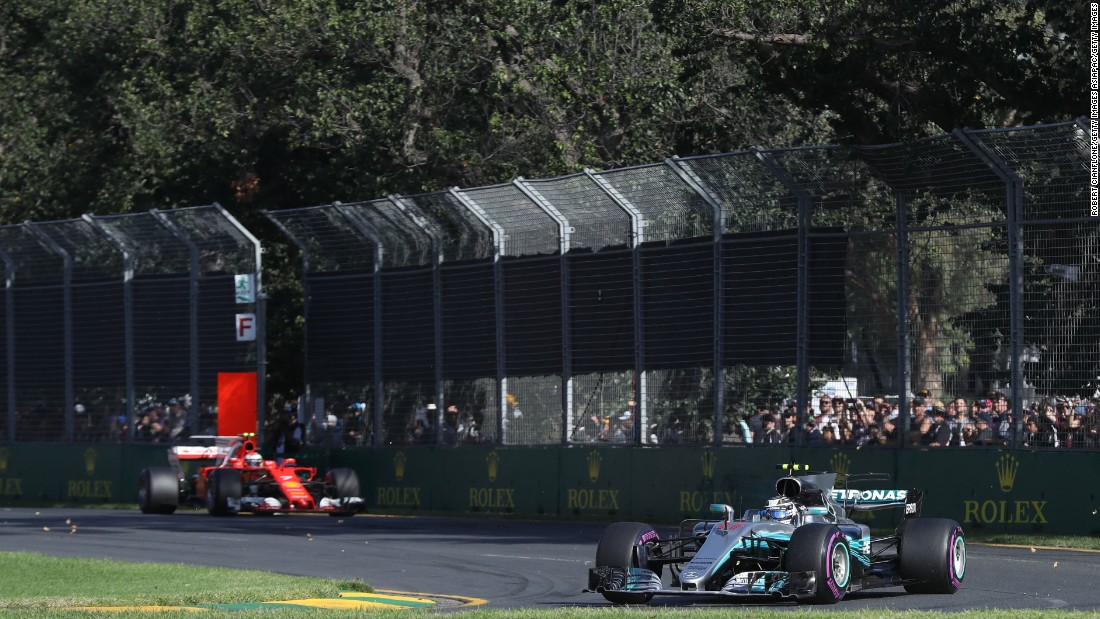 Valtteri Bottas of Mercedes (near) finished third while Kimi Raikkonen of Ferrari finished fourth.