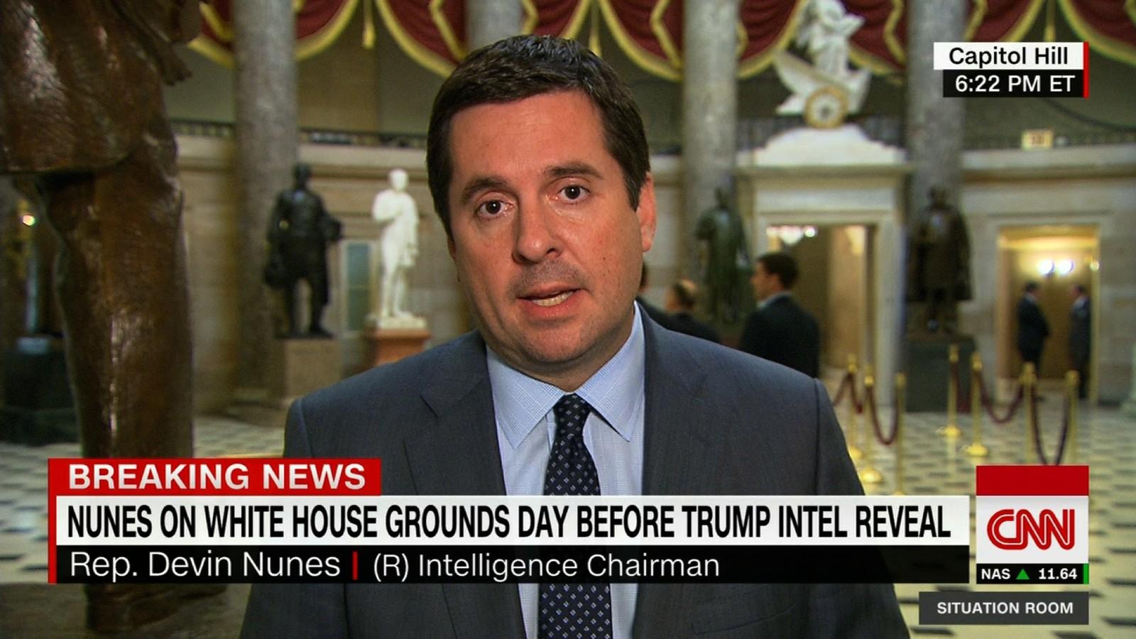 Nunes: U0027For The Most Partu0027 Trump Officials Were Masked   CNNPolitics
