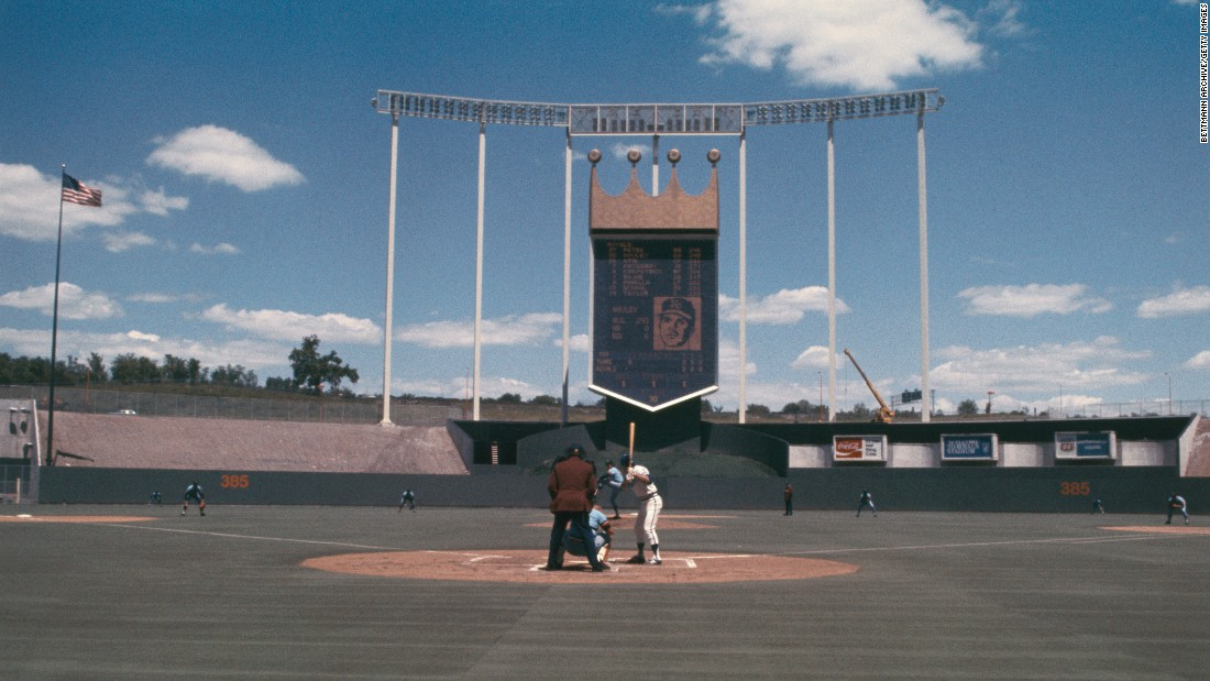 Kauffman Stadium, home of the Kansas City Royals, is another modern ballpark. It opened as Royals Stadium in 1973.