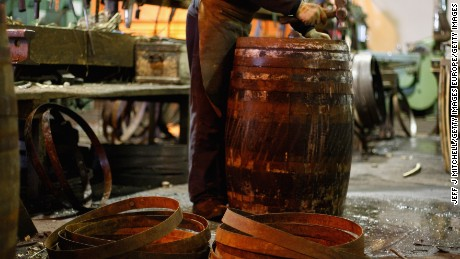 An empty barrel. (Photo by Jeff J Mitchell/Getty Images)