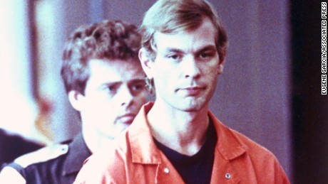 Accused serial killer Jeffrey L. Dahmer walks into the Milwaukee County Court, Wis., on Tuesday, Aug. 6, 1991.  Dahmer is charged with eight additonal counts of 1st Degree Intentional Homicide and his bail is raised from $1 million to $5 million.  (AP Photo/Eugene Garcia)