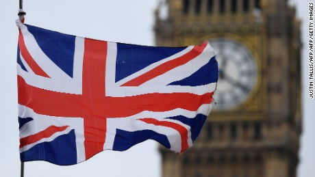 A Union flag flies near the Elizabeth Tower, commonly referred to as Big Ben, at the Houses of Parliament in central London on March 29, 2017. Britain formally launched the process for leaving the European Union on Wednesday, a historic move that has split the country and thrown into question the future of the European project. Just days after the EU's 60th birthday, Britain became the first country ever to seek a divorce, striking a blow at the heart of the union forged from the ashes of World War II.  / AFP PHOTO / Justin TALLIS        (Photo credit should read JUSTIN TALLIS/AFP/Getty Images)