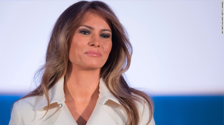 Melania Trump makes rare public appearance