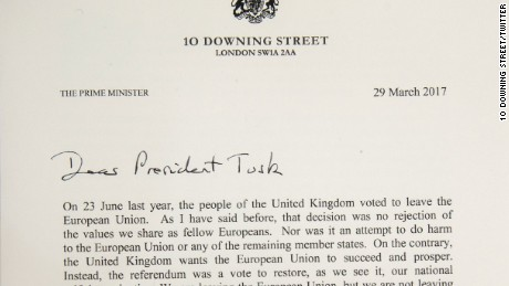 Brexit letter: The document that officially triggered Article 50