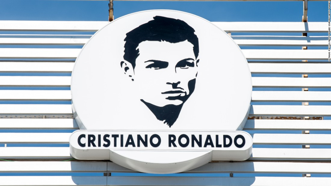 The airport's logo now bears the Portugal star's face.