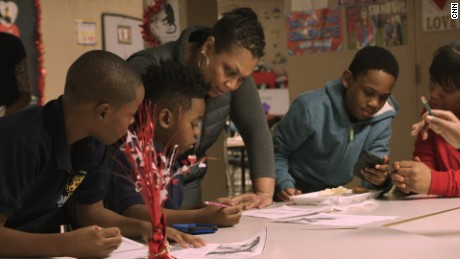 CNN Hero Jennifer Maddox works with kids in her after school program, Future Ties.