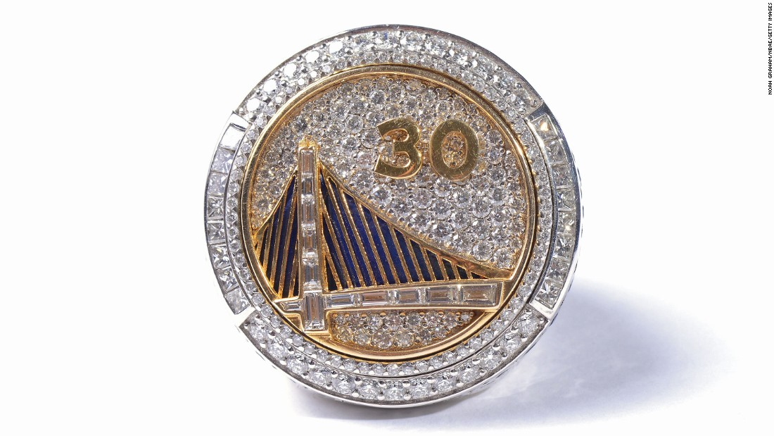 Here's the ring Stephen Curry -- No. 30 -- won for his contribution to<br />the Golden State Warriors' championship in 2015.