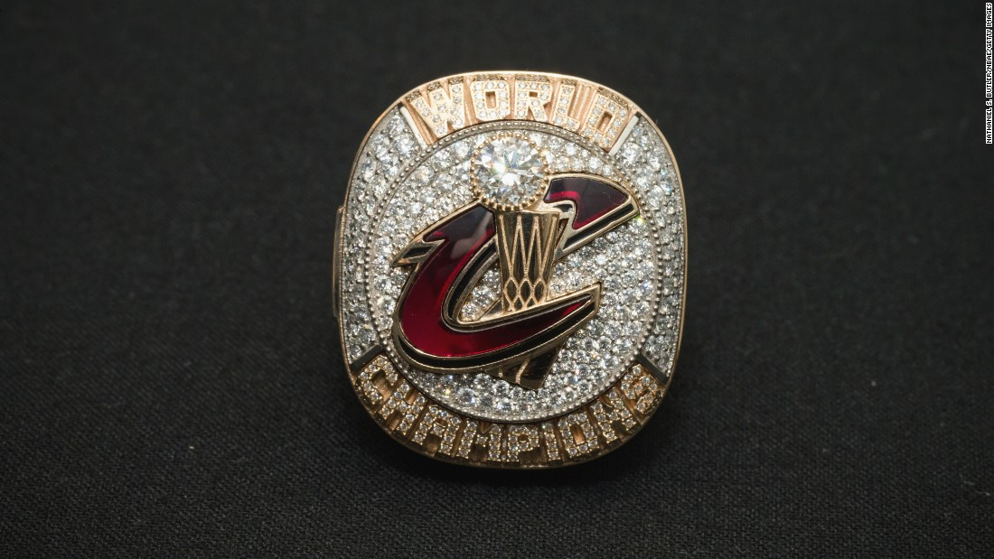 In 2016, the Cleveland Cavaliers celebrated their first NBA championship with this ring featuring the team logo.