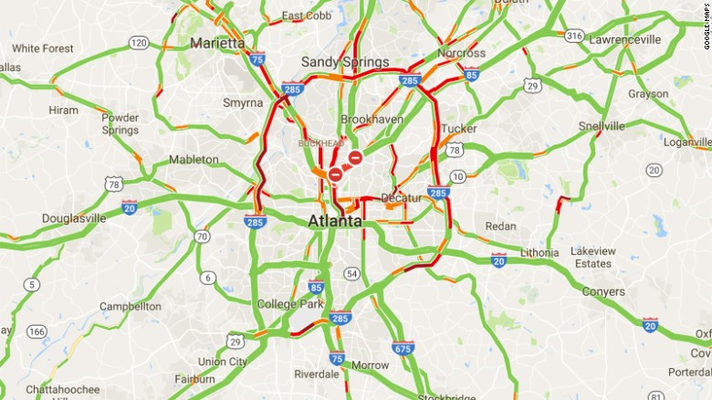 I Collapse Three Arrested After Major Fire Under Highway CNN - Interstate 20 map showing route thru southern us states