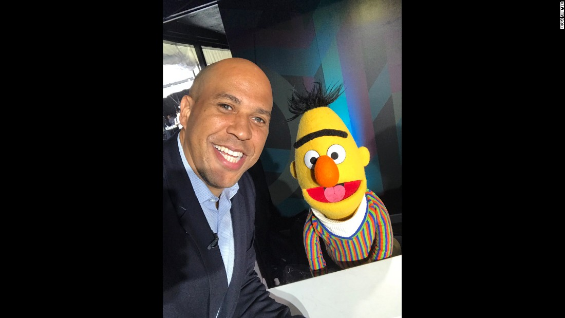 "US Sen. Cory Booker takes a selfie with ""Sesame Street"" character Bert as he attended the South by Southwest festival in Austin, Texas. ""I've done a few interviews here at #SXSW but this is definitely a highlight,"" <a href=""https://twitter.com/CoryBooker/status/840655587578916868"" target=""_blank"">Booker tweeted</a> on Saturday, March 11. ""Bert Rocks. We actually discussed what freedom means."""
