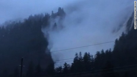 Avalanche stops just feet away from homes