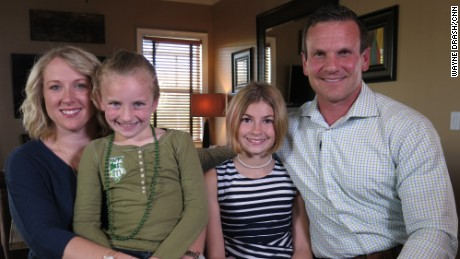 Gina and Wade Gregory with daughters Gracie, left, and Ryleigh.