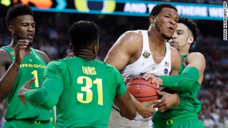 North Carolina's Kennedy Meeks had a career-high 25 points.