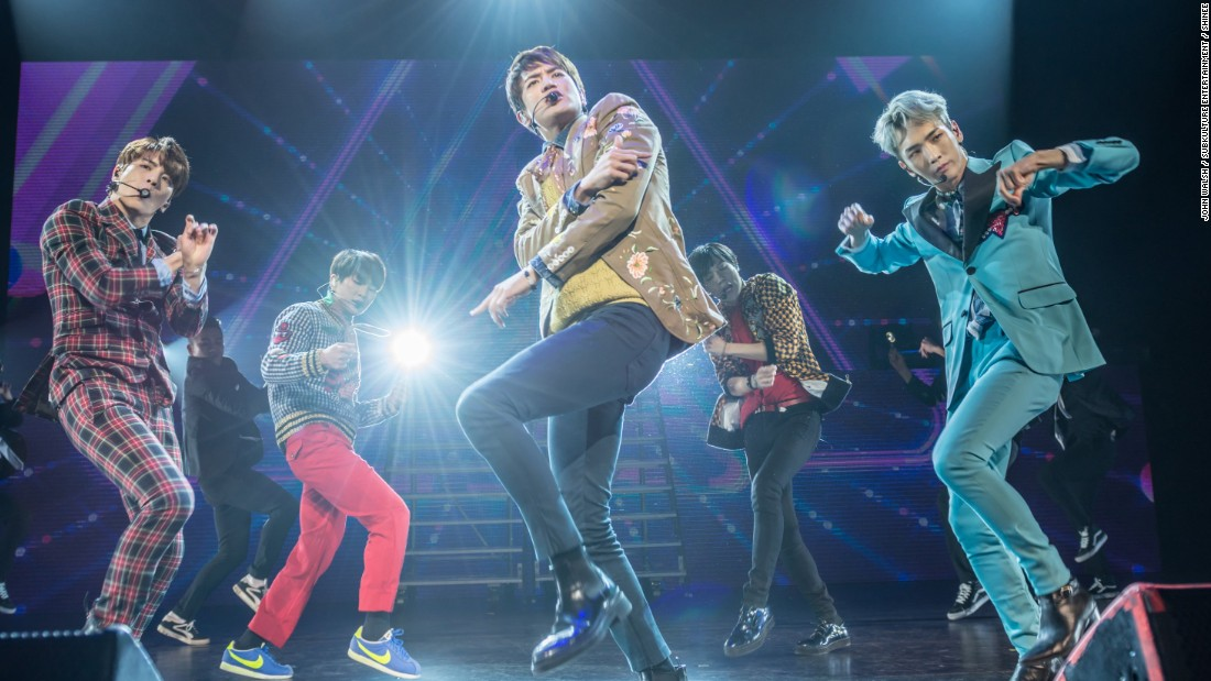 SHINee performed at the Verizon Theatre at Grand Prairie in Dallas on March 24.