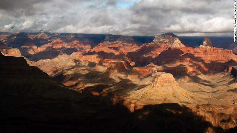 A general view of the South Rim of the Grand Canyon in Grand Canyon National Park, Arizona, on February 13, 2017. / AFP PHOTO / RHONA WISE        (Photo credit should read RHONA WISE/AFP/Getty Images)