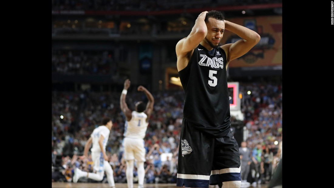 Gonzaga point guard Nigel Williams-Goss walks off the court.