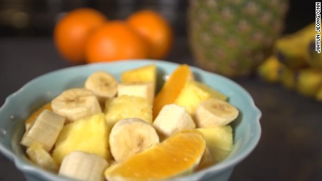 Snacking on bananas, pineapple, and oranges before bed may help you sleep better.