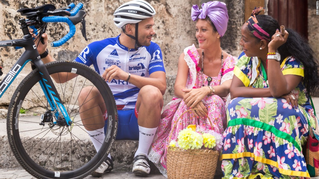 Zurl says he will stay in Cuba after his ride to immerse himself in the country's culture.