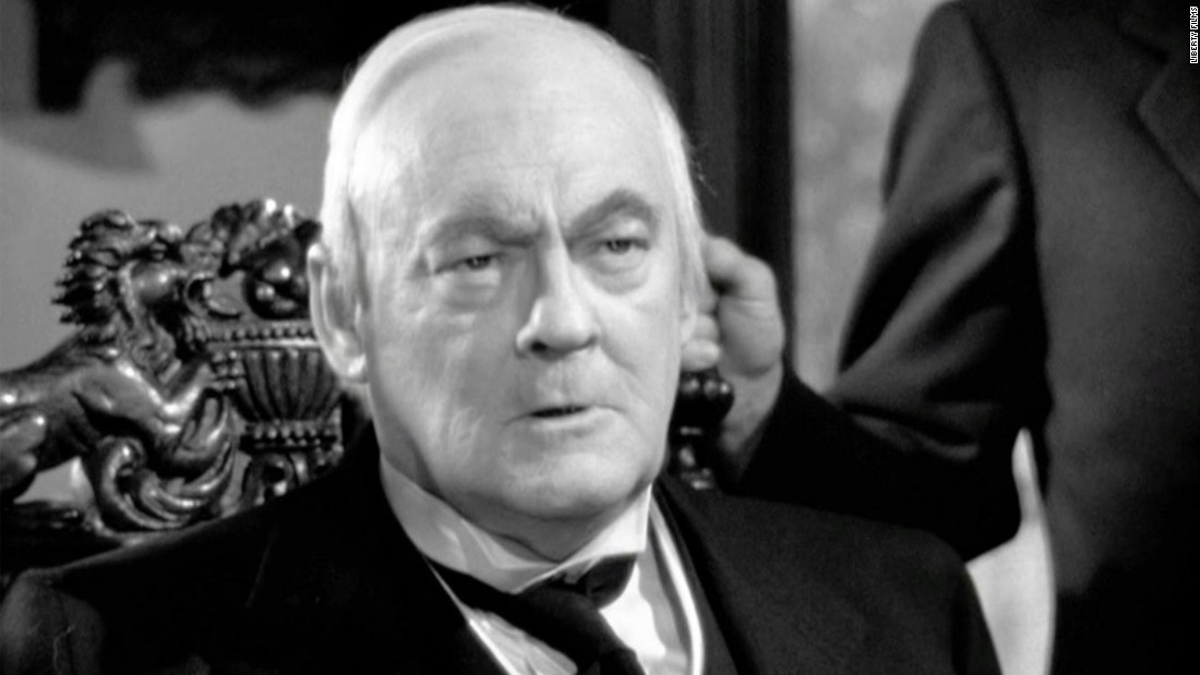 "Lionel Barrymore famously played a balding, wheelchair-bound businessman, Mr. Potter, in ""It's a Wonderful Life."""