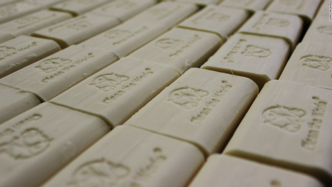 Recycled soap ready to be distributed to those in need across the world.