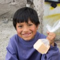 Children like this boy can use soap donated by Clean the World to fend off life threatening diseases that claim thousands each year.
